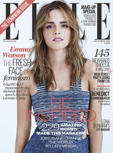 Elle Magazine December 2014 Feminism Issue cover featuring Emma Watson