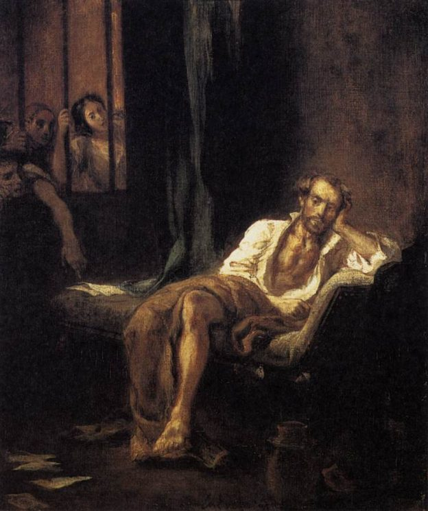 """Tasso in the Hospital of St. Anna at Ferrara"" by Eugène Delacroix, 1838"