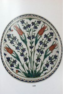 Iznik plate, 16th century: tulips triumph, in both Turkey and Iran. In Istanbul, Isfahan, Delhi.