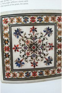The royal touch: a Taj Mahal tile with 48 different stones, from where? In Istanbul, Isfahan, Delhi.