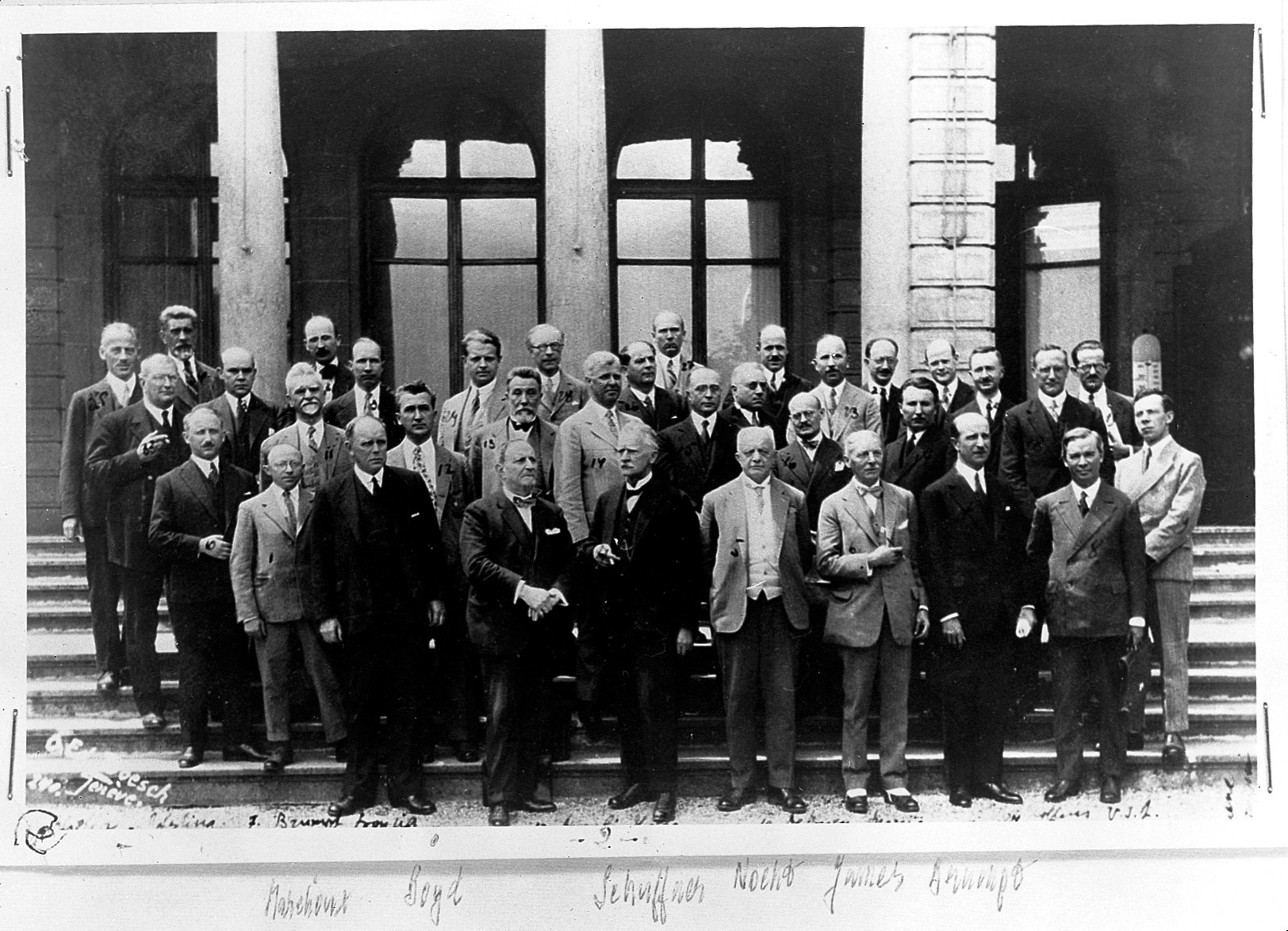 Malaria Commission of the League of Nations, Geneva. Photograph by Poesch photographic agency, 1928